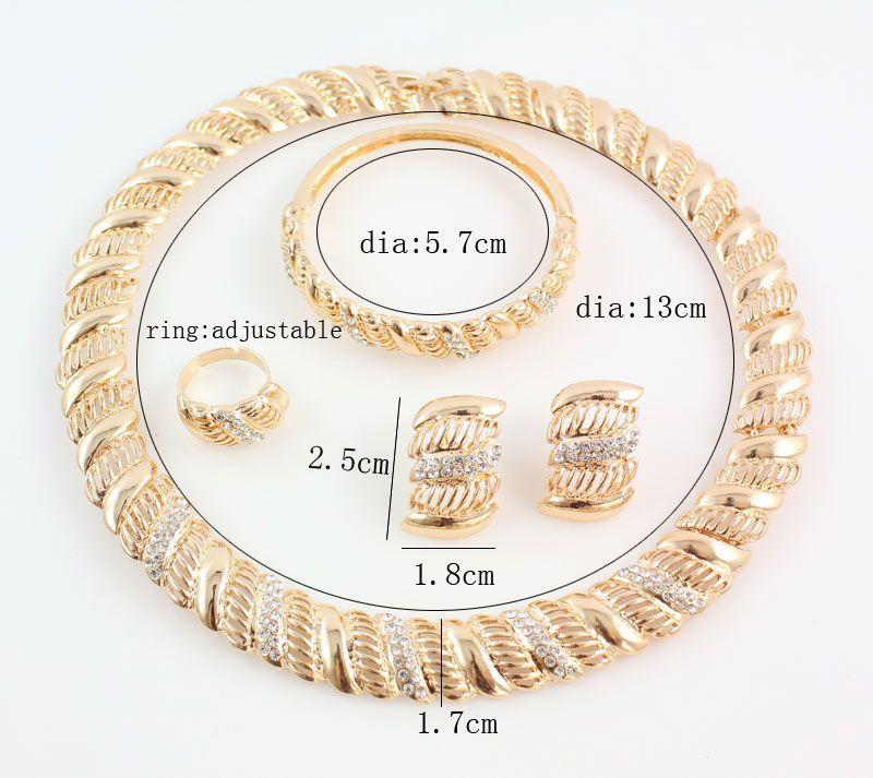 Старинные Африканские Хрустальные Ювелирные Наборы Для Женщин Свадебные Свадебные Аксессуары Позолоченные Ожерелье Браслет Серьги Кольцо Набор