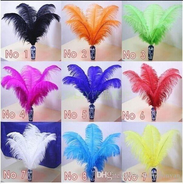 2015 New Arrival Natural White Ostrich Feathers Plume Centerpiece for Wedding Party Table Decoration