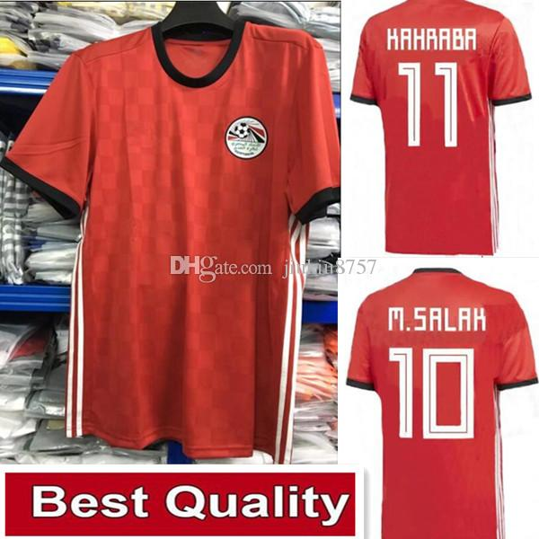 2af52c2b8 2019 Egypt 2018 World Cup Home Soccer Jerseys. Top Thai Quality Egypt Jersey  Football Camisetas Shirt Kit Maillot From Jiukiu8757