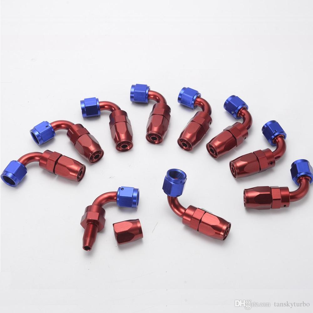 Tansky - 10 piezas / unidad de manguera de refrigeración de aceite de alta calidad con ningún logotipo AN6-90A tienen en existencia