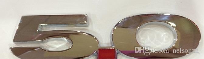 high quality car metal Emblem Badge sticker 5.0 fit for USA cars FO*** series Mu** Mon*** Fo**