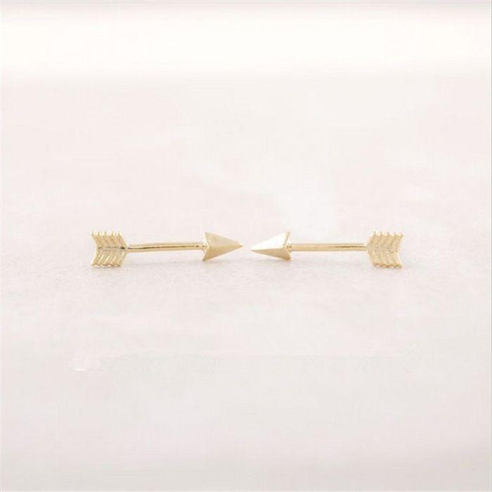 Kadınlar için oklar Kulak Damızlık Moda 18 K Altın Kaplama Kulak Çiviler Sale3 için Yeni Varış 2016