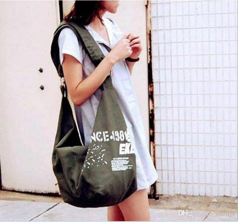Han edition canvas bag manufacturers selling canvas handbag new students one shoulder inclined pull breeze carrying bag