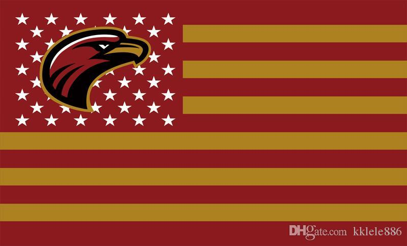 Louisiana Monroe Warhawks Bayrağı 90x150 cm Polyester NCAA Stars And Stripes Afiş