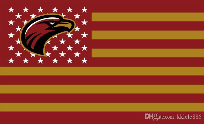 Луизиана Монро Warhawks флаг 90 х 150 см полиэстер NCAA звезды и полосы баннер