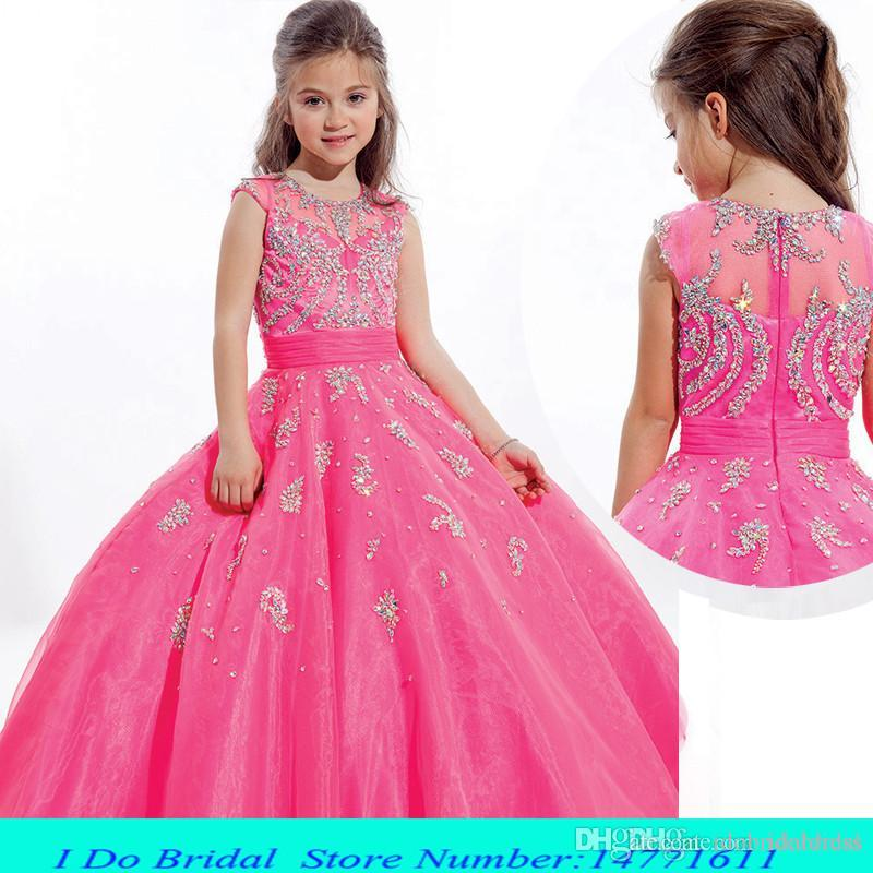 2015 Toddler Beauty Pageant Dresses For Girls Floor Length Pageant ...