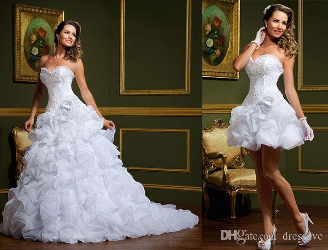 Discount 2016 New Short A Line Wedding Dresses With