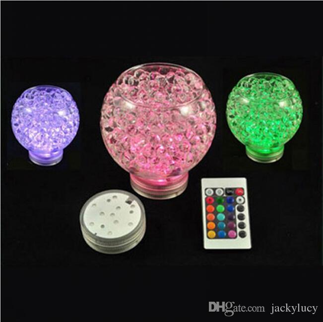 RGB Multi Farben Fernbedienung Tauch LED Gadget Licht, LED Vasen Basis Licht für Hochzeitsfeier Lieferungen