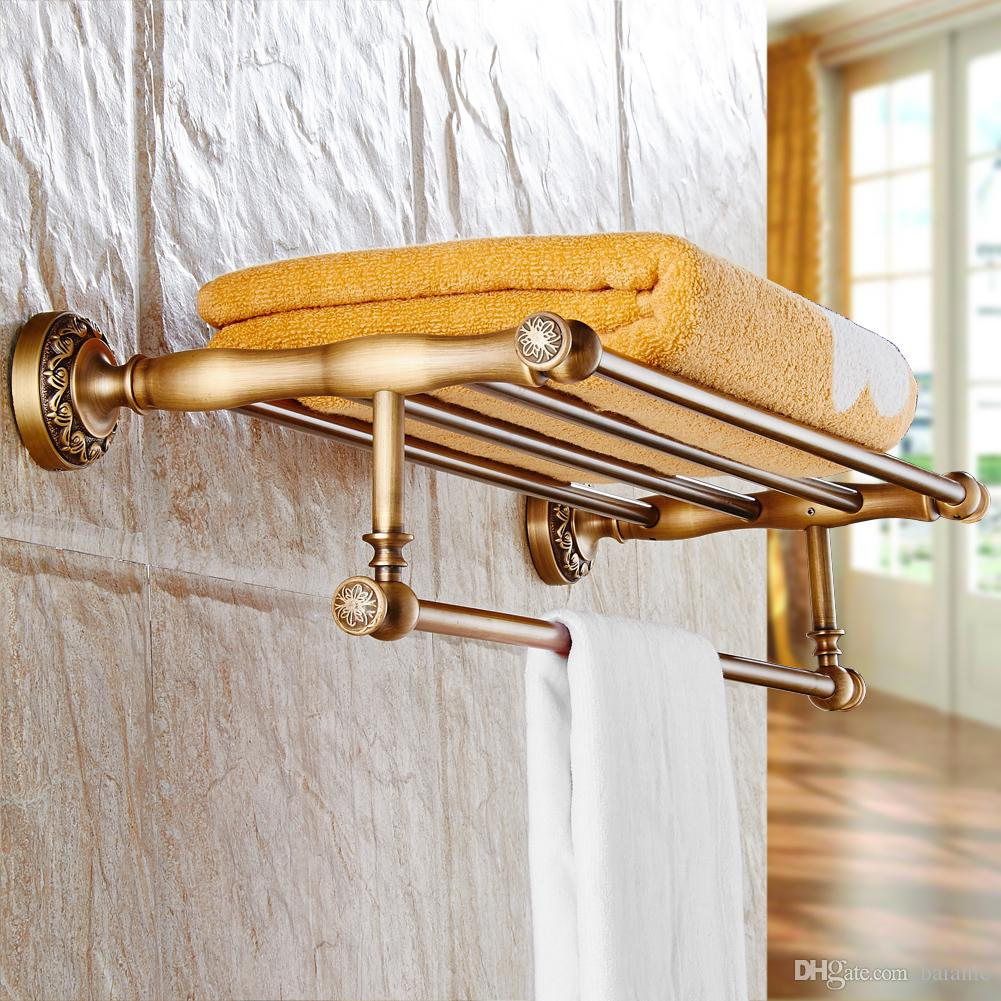2018 Wall Mounted Towel Rack Bathroom Accessories Classic Antique ...