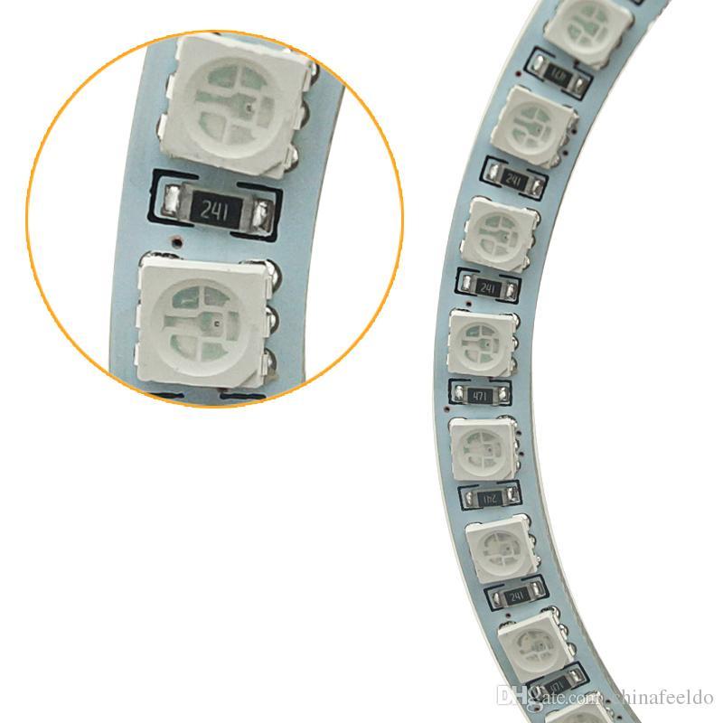 LEEWA Car LED RGB Angel Eyes Halo Ring Light Wireless Remote Control for Ford Focus 08+ Bi-Xenon Headlight #3347