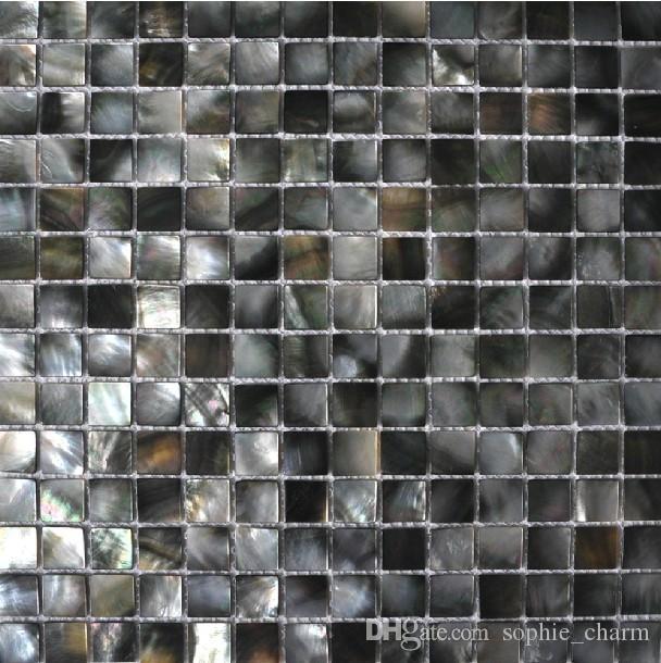 Carrelage mural noir à lèvres en nacre de cuisine carrelage en nacre  carrelage de salle de bain en coquille de mosaïque en coquille profonde