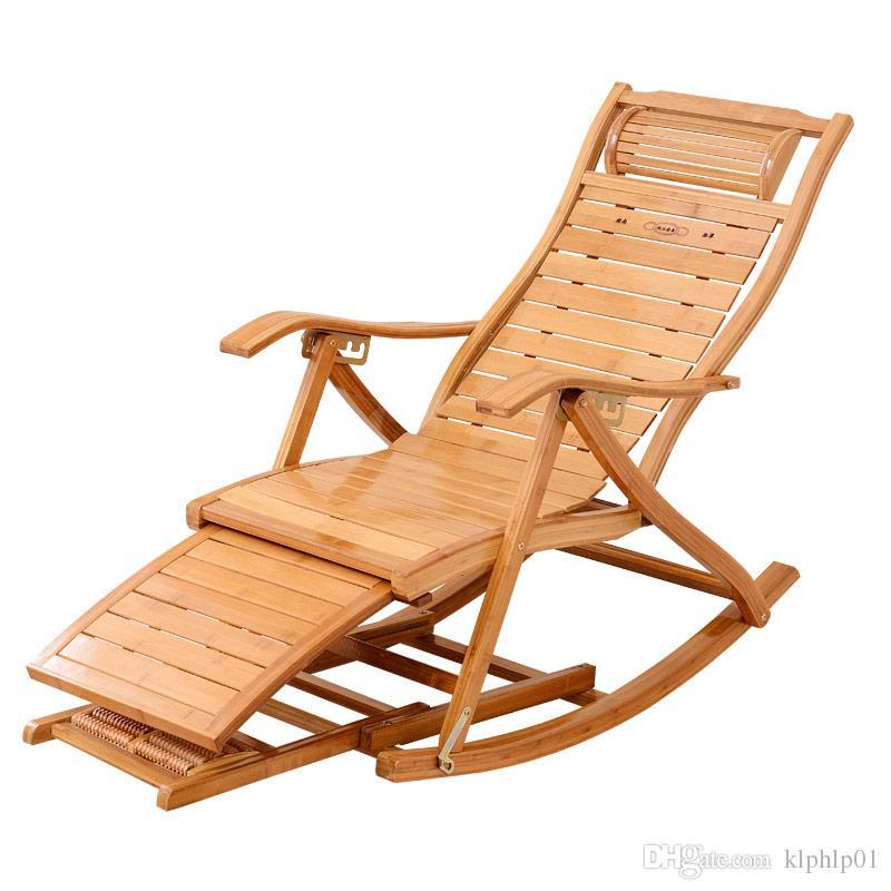 d4bb0384e Compre Reclinación De La Silla Mecedora De Bambú Foldadble Con Otomana  Cubierta / Sala De Estar Al Aire Libre Muebles De Bambú Silla Reclinable  Mecedora ...