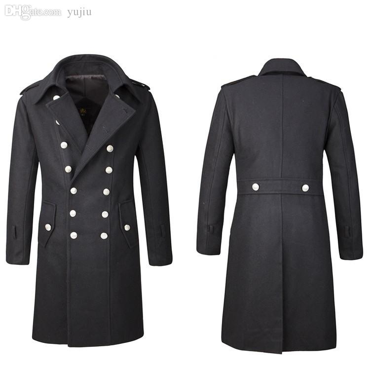 4c1bee398 Fall-Retro Vintage Men's Double Breasted Trench Coat Overcoat Jacket ...