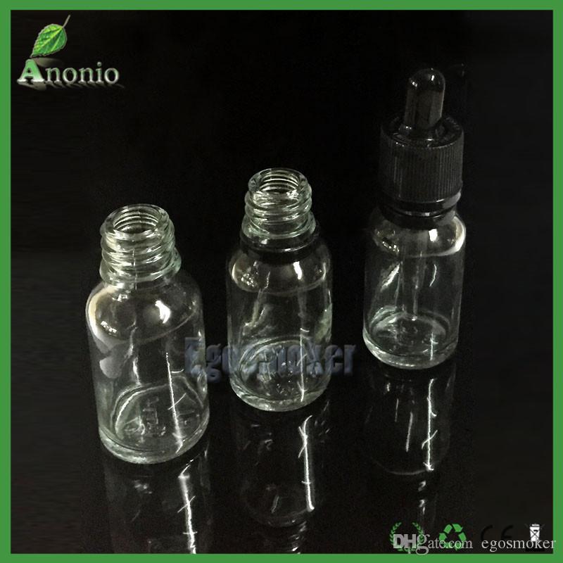 Flacons compte-gouttes en verre pour l'huile essentielle 5 ml 10 ml 15 ml 30 ml 50 ml