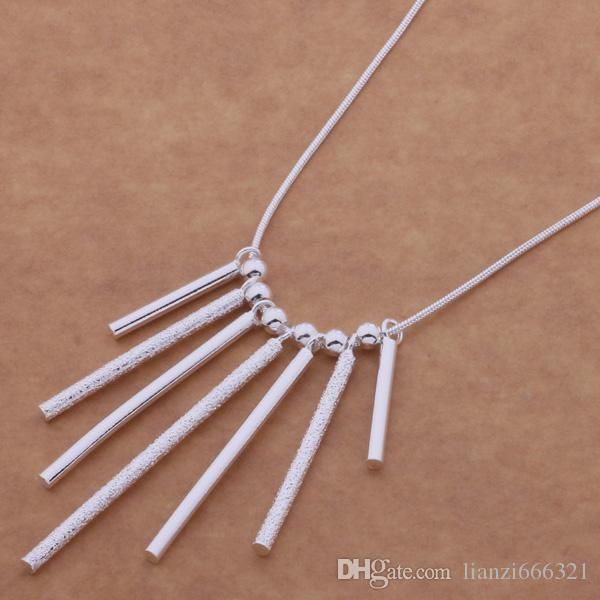 Livraison gratuite avec numéro de suivi Best Most Hot vente Femmes Delicate Gift Jewelry 925 Argent 7 bandes Collier
