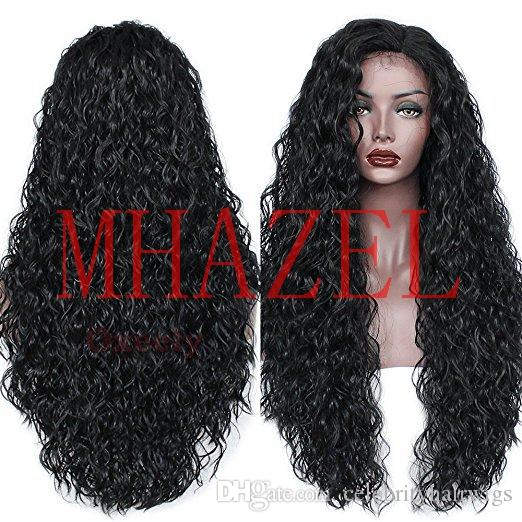 long hair side part long braided hair wig glueless front wig side part 26inch 150%density for woman