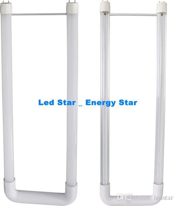 W kształcie litery T8 LED LED 22W 2FT U Kształt Tubes Lampa SMD 2835 Wysokie jasne G13 LED Fluorescencyjne żarówki AC85-265V