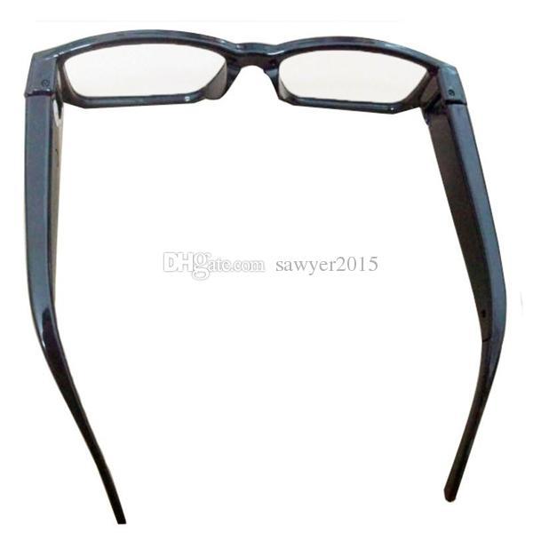 HD 1080P نظارات كاميرا صغيرة النظارات ذات الثقب الكاميرا نظارات MINI DV DVR صوت مسجل فيديو رقمي الأسود