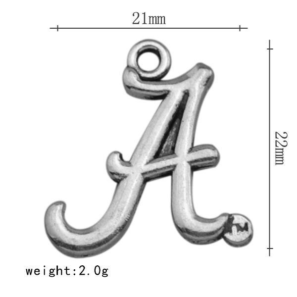 Vintage Alloy NCAA Team Charms University Alabama Crimson Tide Team Logo Charms Wholesale 21*22mm AAC1041