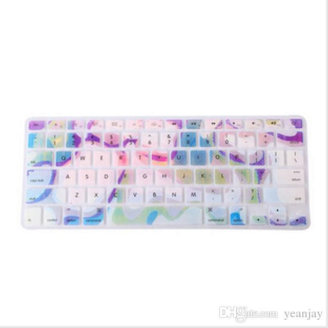 Marble Pattern Silicone Rainbow Keyboard Cover Keypad Skin Protector F Apple Mac Macbook Pro 13 15 17 Air 13 Retina 13 US layout