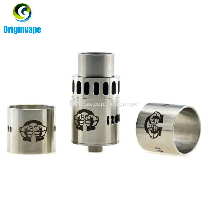 Alliance RDA Rebuildable Atomizer Clone Tank 22mm with Airflow Metal Drip Tips fit 510 Mods DHL