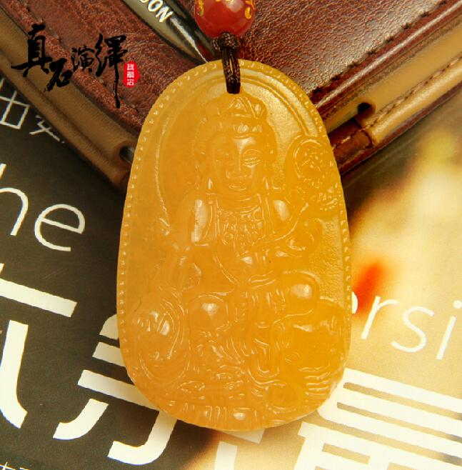 Aaa natural emerald yellow jadeite jade pendant hand carved good aaa natural emerald yellow jadeite jade pendant hand carved good luck charm zodiac kwanyin guanyin pendant necklace white dragon and phoenix dragon and aloadofball Images