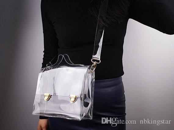 PVC Transparent Envelope Clutch Bag Women's Clear Color Cross Body Bag Handbag