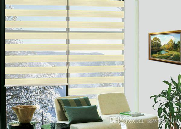 2017 Custom Made Luxury Translucent Roller Zebra Blinds In Light Yellow Fold Curtains For Living Room Are Available From Sswdm001 3533