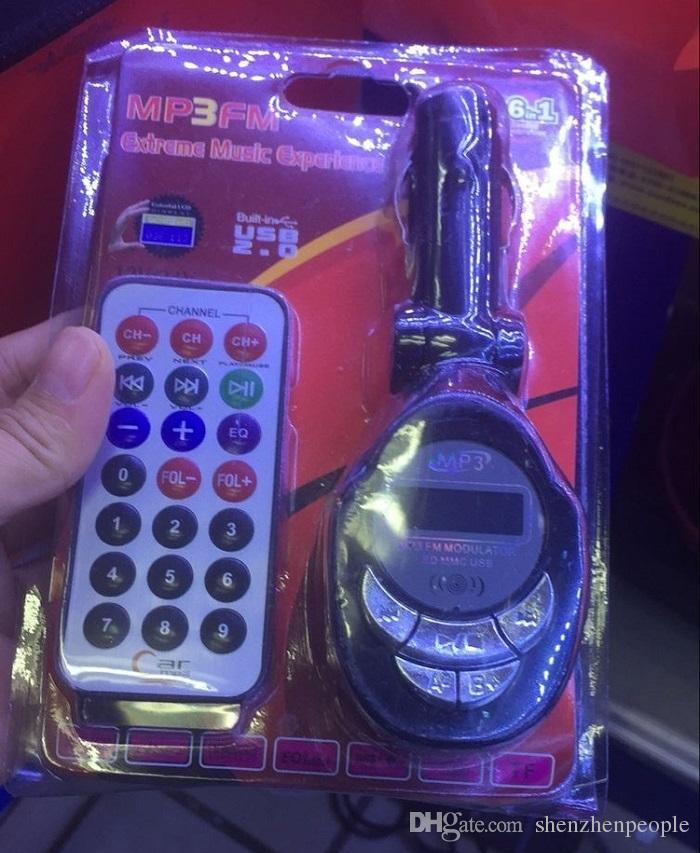 سيارة مشغل MP3 لاسلكي FM مرسل بلوتوث LCD / SD / MMC / CD جهاز التحكم عن بعد سيارة قابلة للطي