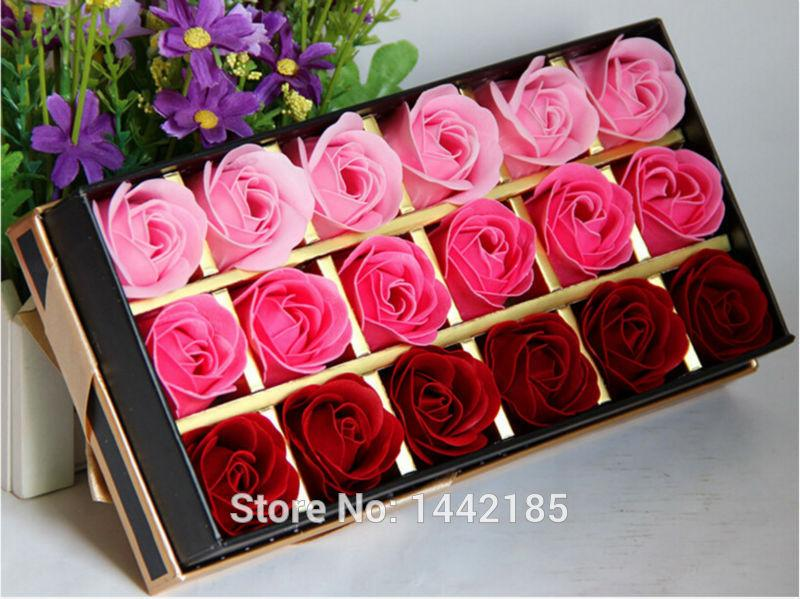 18 Soap Flower Roses Gift Box to Send His Girlfriend Originality And ...