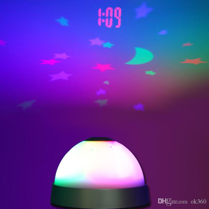 2019 Changing Starry Night Sky Led Projector Alarm Clock Projection