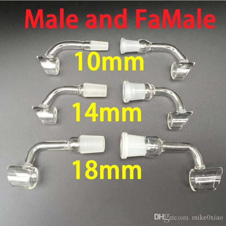 Male and Female 10mm 14 mm 18 mm Joint for Rig Glass Bong Water Pipes Fittings of Quartz for Glass Oil Rig