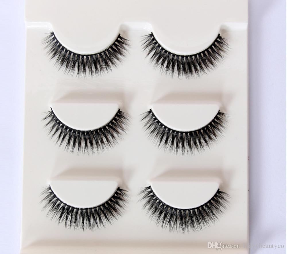 3D-18Women False Eyelashes Handmade Natural Long False Eyelashes Soft Fake Eye Lash 3D False Eyelashes Eyelash extensions false eyelash Gift