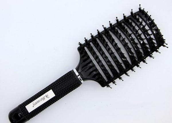 Boar Bristle Hair Brush Nylon Detangling Pins Natural Boar Bristles for Hair Oil Distribution. Curved for Vented Faster Drying