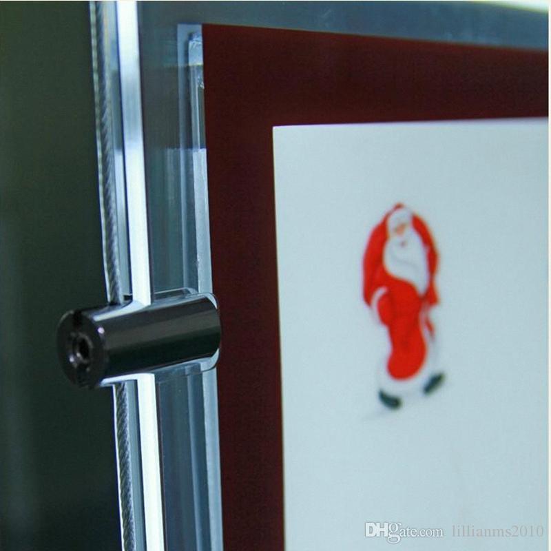 agente immobiliare / agente di viaggio finestra appeso acrilico display a LED Poster Frame Double Sided A3 Light Boxes