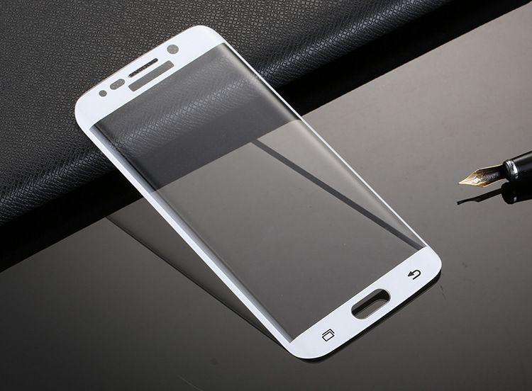 Tam Kapak 3D Kavisli Temperli Cam Ekran Koruyucu Patlamaya dayanıklı Anti-çizik Perakende Kutusu Ile Samsung S6 Kenar S6edge Artı Için