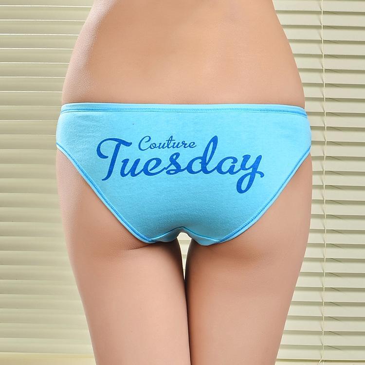 Un set di 7 pezzi pantaloni corti da giorno settimana in cotone Damenunterhosen breve riassunto delle donne sexy biancheria intima signora mutandine hot intimo lingerie