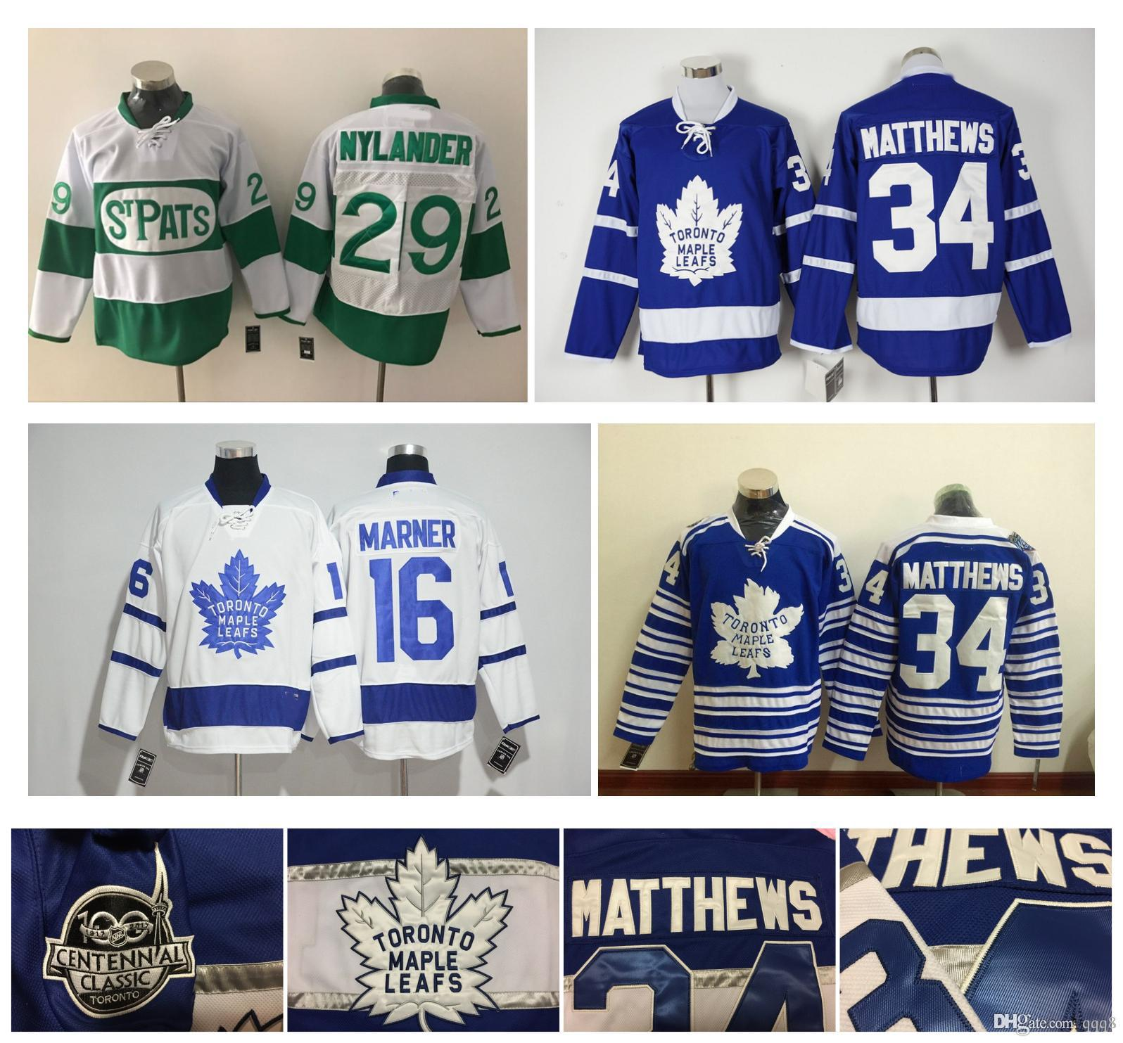 8812752b950 34 Auston Matthews Toronto Maple Leafs Jersey 16 Mitch Marner 29 William  Nylander 44 Morgan Rielly Centennial Classic NHL Hockey Jersey Nhl Hockey  Jerseys ...