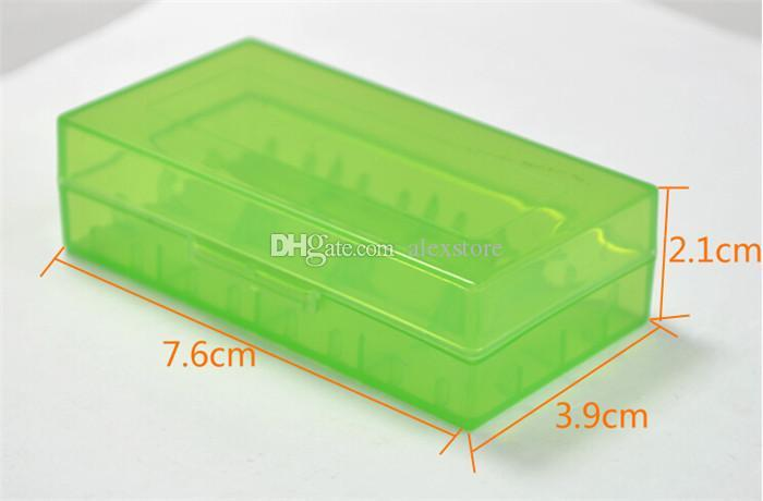 Portable Plastic Battery Case Box Safety Holder Storage Container pack batteries for 2*18650 or 4*18350 lithium ion battery e cig