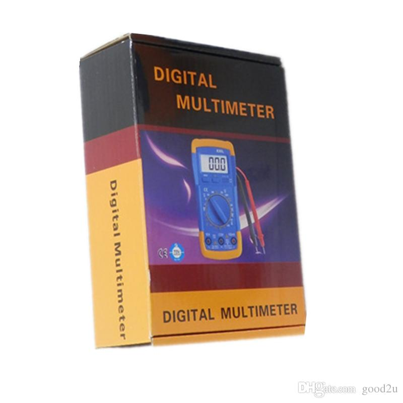 الجملة سعر المصنع dmm الرقمية المتر A830L الفولتميتر OMMMeter HFE الحالي اختبار LCD الخلفية مقياس املايتر