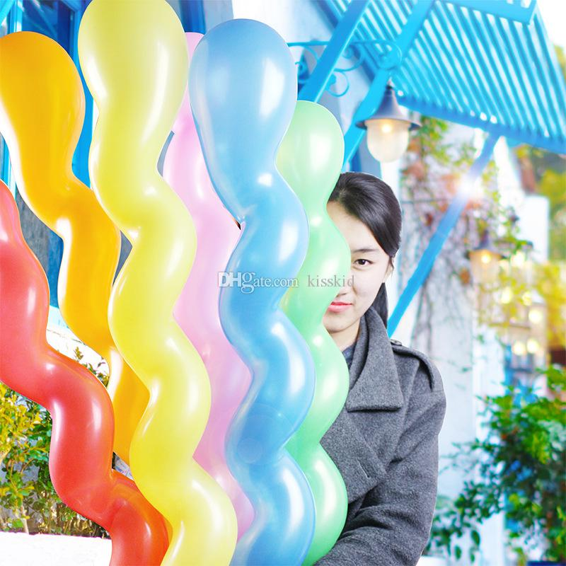 100 Stücke Spirale Assorted Bunten Latexballons Schraube Ballon Hochzeit Party Favors Kind Geschenk Hauptdekorationen Neue