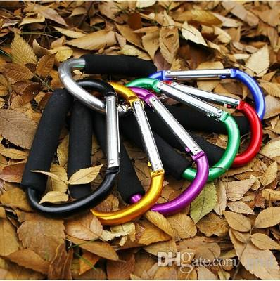 Large Size Colorful Aluminum Alloy D Shape Climbing Button Carabiner Keychain outdoor roller skating shoes buckle supermarket hook