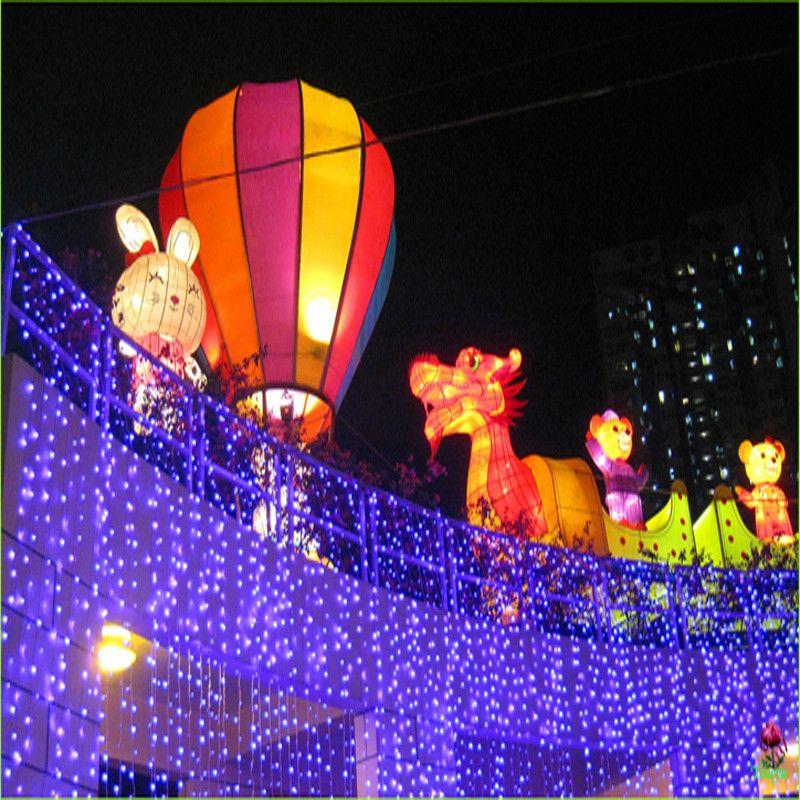 도매 4 * 5m 640 전구 LED 커튼 갈 랜드 문자열 빛 크리스마스 신년 휴가 파티 웨딩 장식 램프 조명