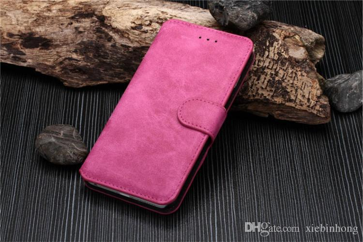 For Iphone 5 5s 6 6s 6s plus Frosted Matte Pattern Cover Cases Flip Leather Case Wallet style Credit Card Slot Book Stand
