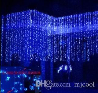 Hochzeit Hintergrund Lichtvorhang Lampe Weihnachten Lampe Festival Lampe 10 * 3 Meter 1000 führte freies Verschiffen