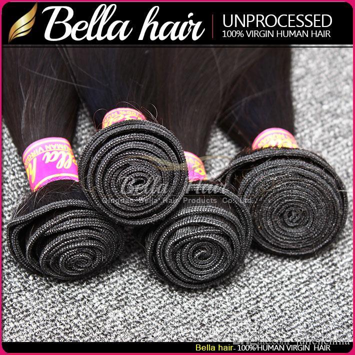벨라 Hair®의 / 많은 100 % 페루 머리 인간의 머리 씨실 높은 품질 확장 자연 색상 실키 스트레이트 Julienchina