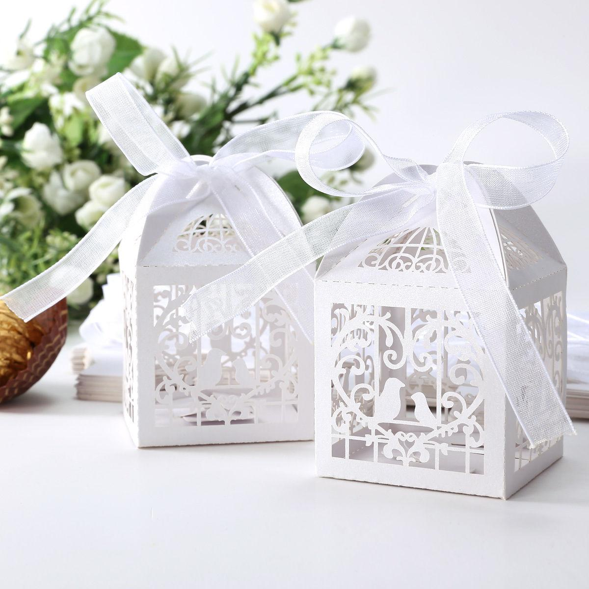 Laser Cut Wedding Sweets Love Bird Wedding Favor Candy Gifts Boxes ...