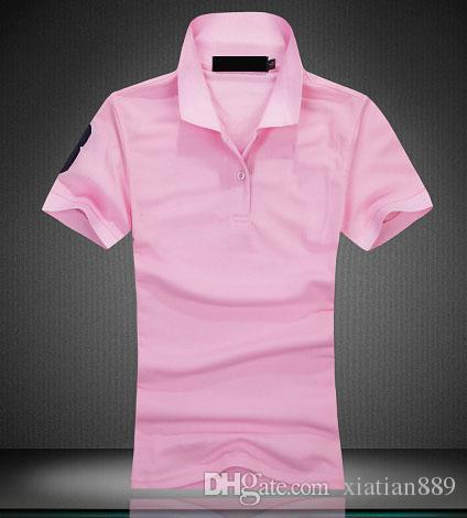 여성 폴로 의류 최고 품질 자수 티셔츠 반팔 T 셔츠 남성 t 셔츠 여름 코튼 티셔츠 여성 인과 티셔츠 탑
