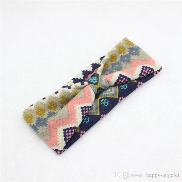 Las mujeres se divierten el yoga / el bebé del arco del algodón del turbante suave venda de la flor del pelo Head Wrap el estampado de leopardo anudado plano Headwrap FD6561