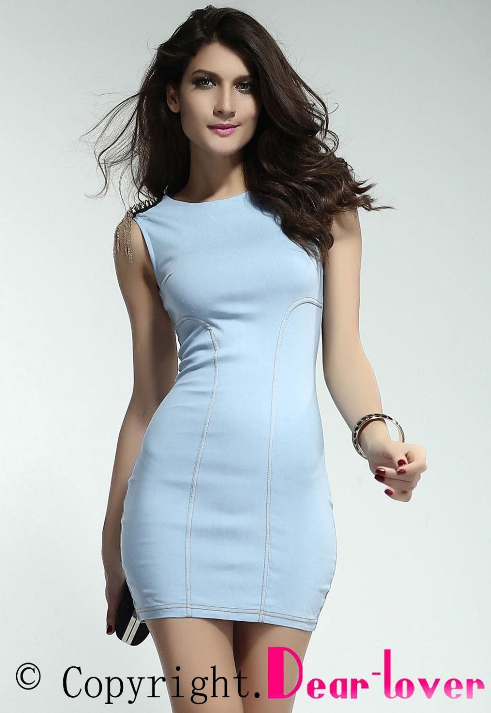 Dear Lover Sexy Stylish Skintight Denim Dress Lc2861 Women Clothing